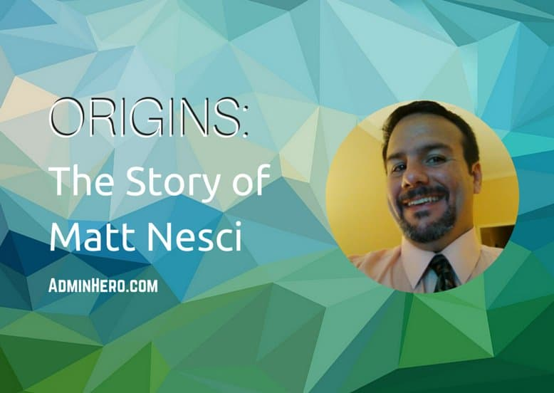 ORIGINS: The Story of Matt Nesci