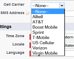 cell carrier picklist
