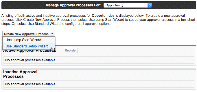 create new approval process