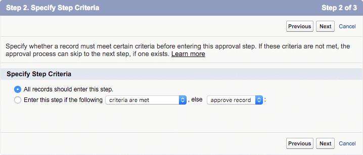 approval step 2 step criteria
