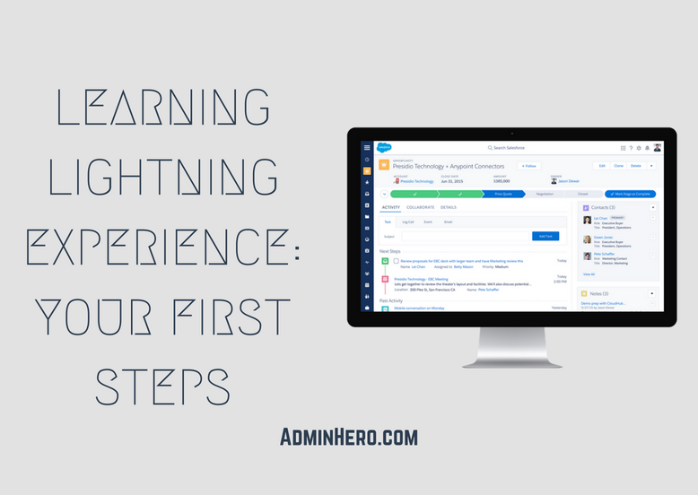 Learning Lightning Experience Your First Steps